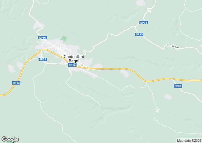Map for Canicattini Bagni, Syracuse, Sicily