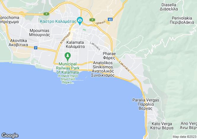 Map for Kalamata, Messinia, Peloponnese