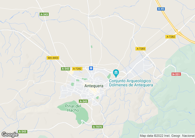 Map for Antequera, Málaga, Andalusia
