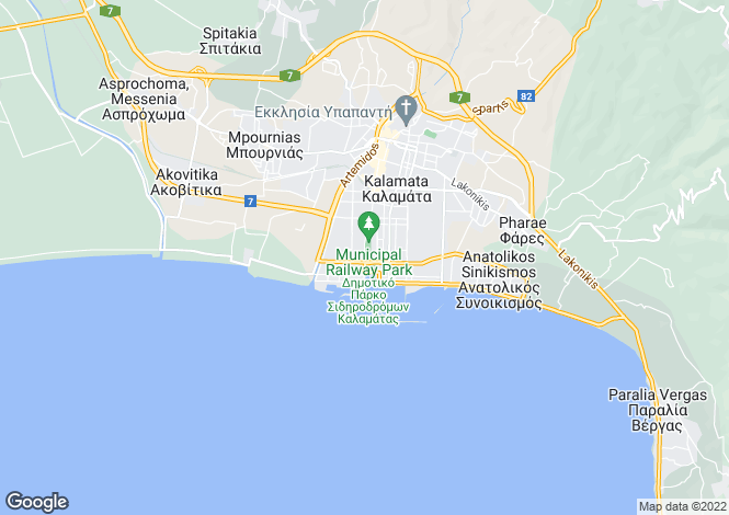 Map for Peloponnese, Messinia, Kalamata
