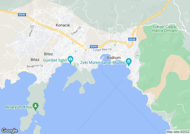 Map for Bodrum, Bodrum, Mugla