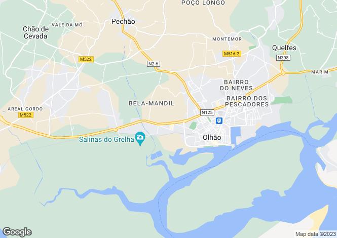 Map for Bela Curral, Olhão, Olhão