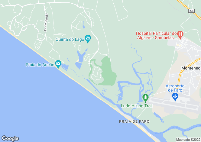 Map for Duplex Apartment, Quinta Do Lago, Algarve