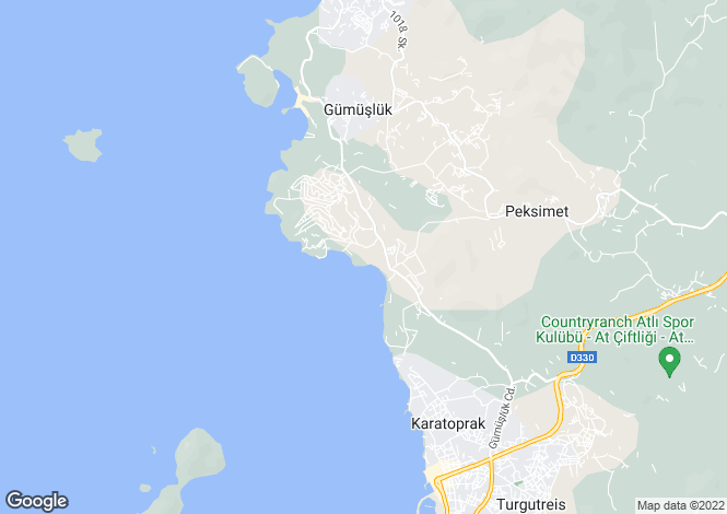 Map for Mugla, Bodrum, Turgutreis