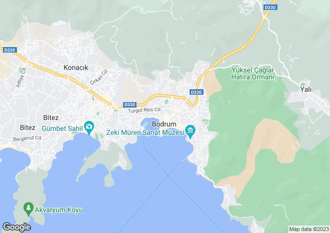 Map for Mugla, Bodrum, ADABUKU