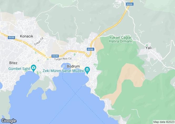 Map for Mugla, Bodrum, Bodrum