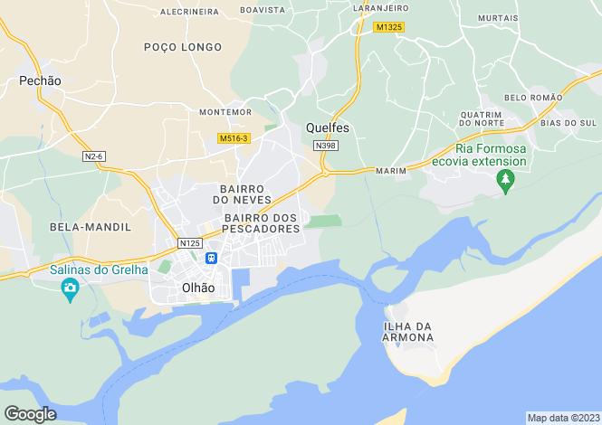 Map for Quelfes, Olhão, Faro