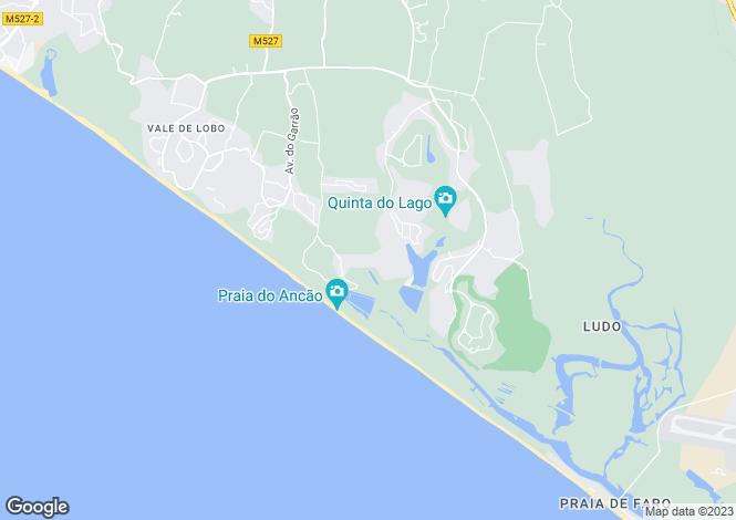 Map for Algarve, Quinta Do Lago
