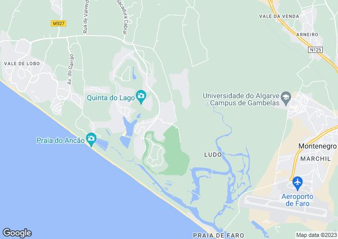 Map for Quinta Do Lago, Algarve