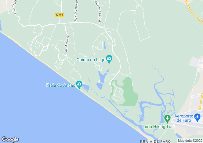 Map for Delightful Apartment, Lakeside, Quinta Do Lago