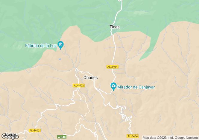Map for Ohanes, Almería, Andalusia