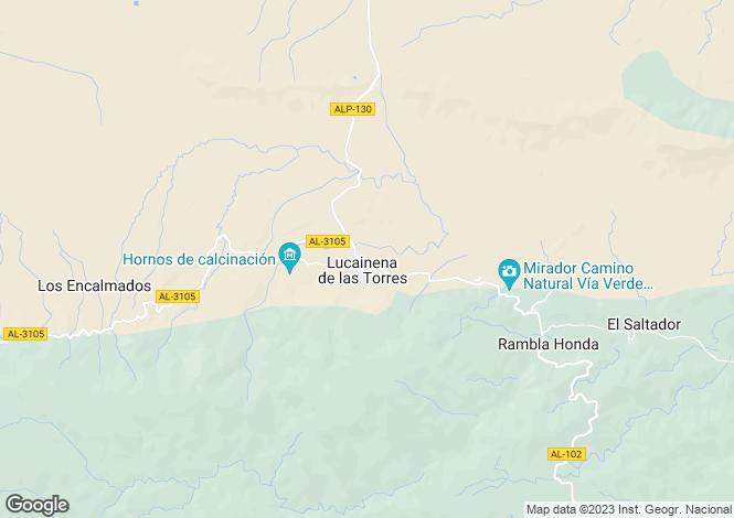 Map for Spain - Andalucia, Almería, Lucainena de las Torres
