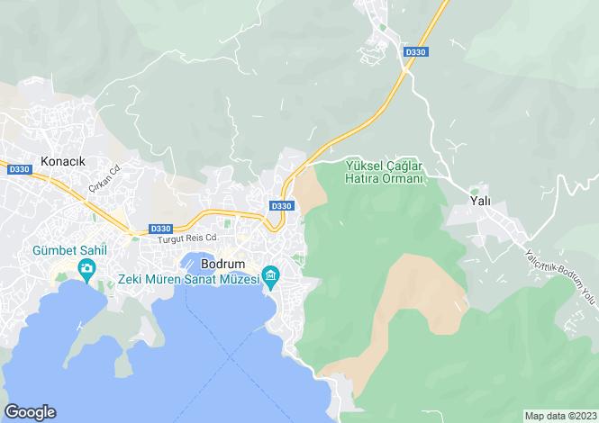Map for Bodrum, Mugla,  Turkey