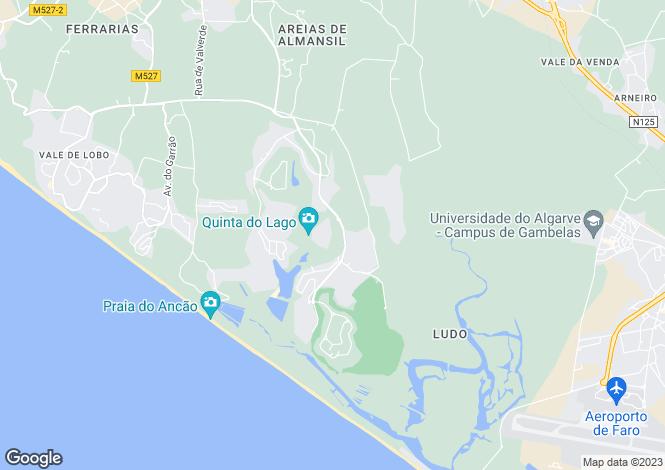 Map for Algarve