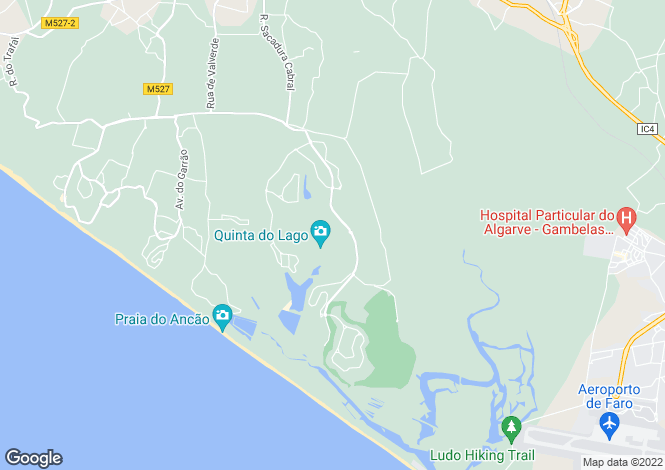 Map for Quinta do Lago ,Portugal