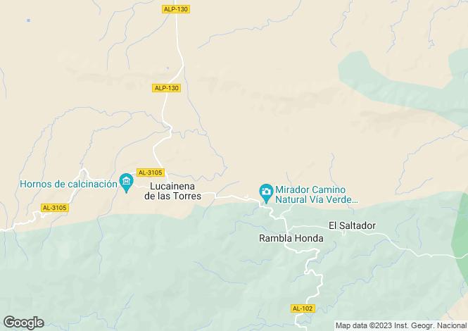 Map for Andalucia, Almería, Lucainena de las Torres