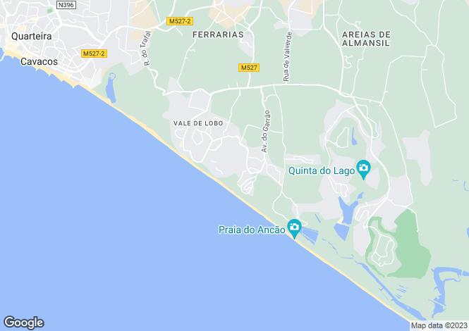 Map for Vale do Lobo, Portugal