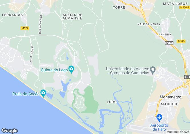 Map for Algarve, Pinheiros Altos