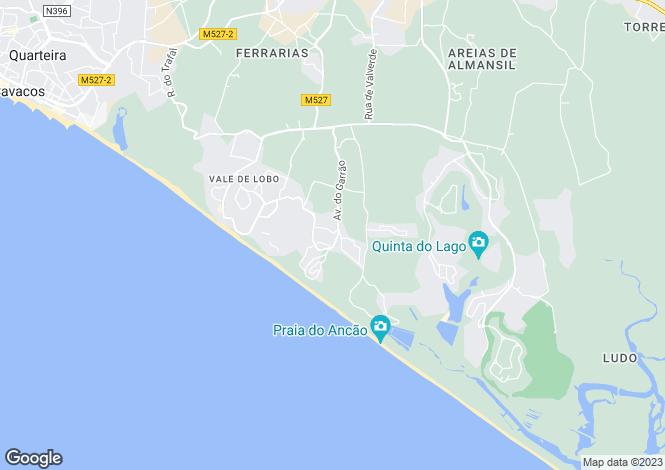 Map for Algarve, Dunas Douradas