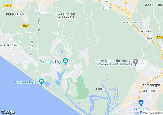 Map for Cul-De-Sac Villa, Quinta Do Lago, Algarve