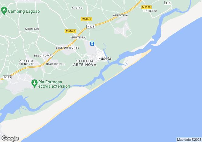 Map for Algarve, Moncarapacho