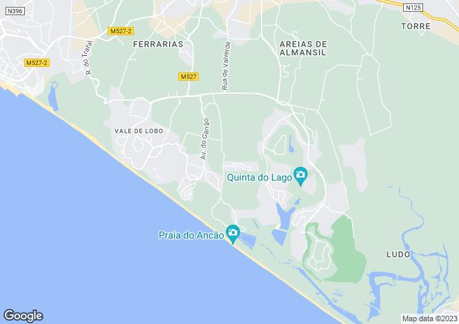 Map for Portugal - Algarve, Loulé