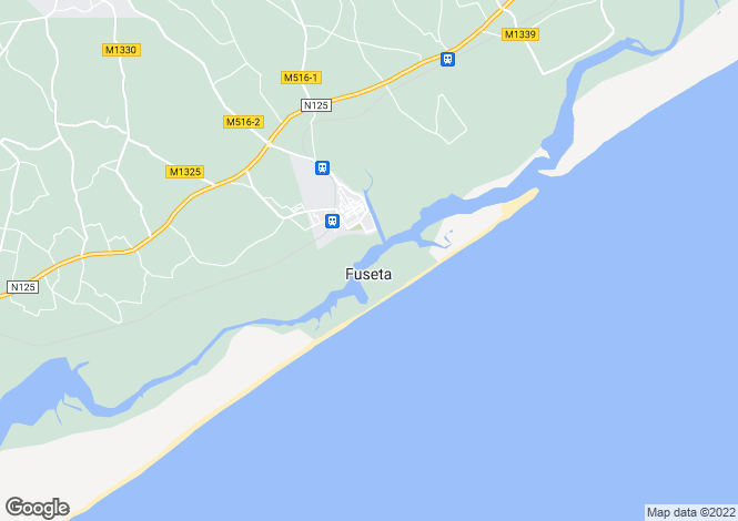 Map for Moncarapacho e Fuseta, Olhão, Faro