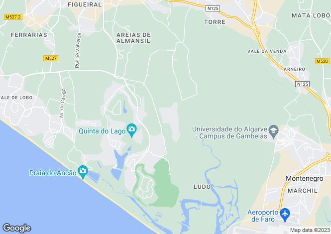 Map for Pinheiros Altos, Algarve, Portugal