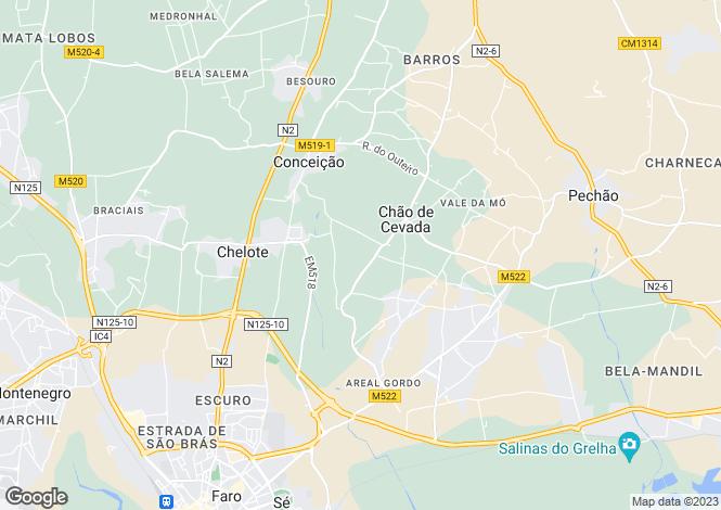 Map for Faro, Algarve