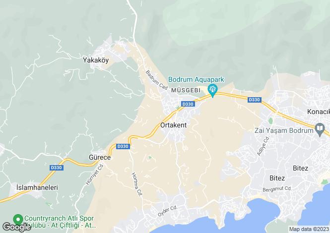 Map for Mugla, Bodrum, Ortakent