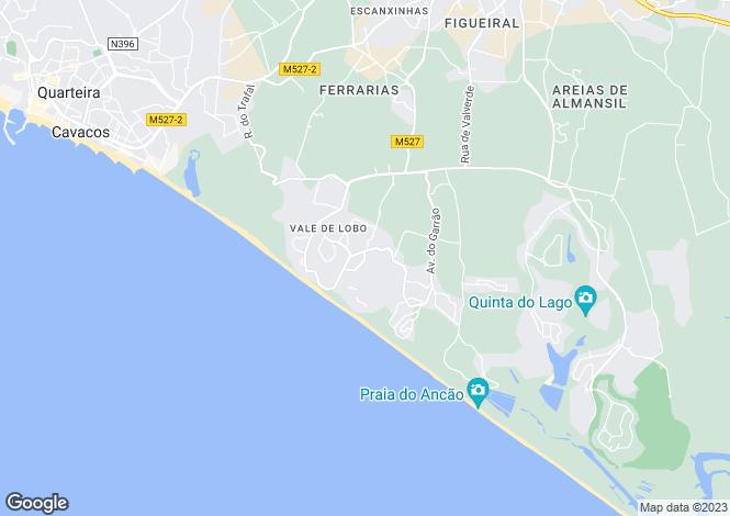 Map for Algarve, Vale de Lobo