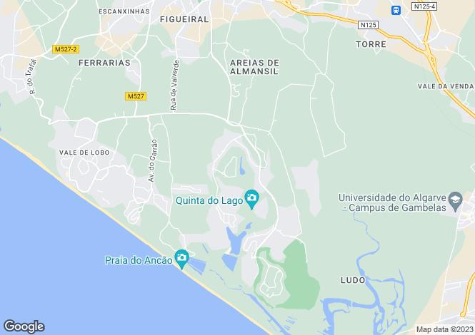 Map for Quinta do Lago, Algarve, Portugal