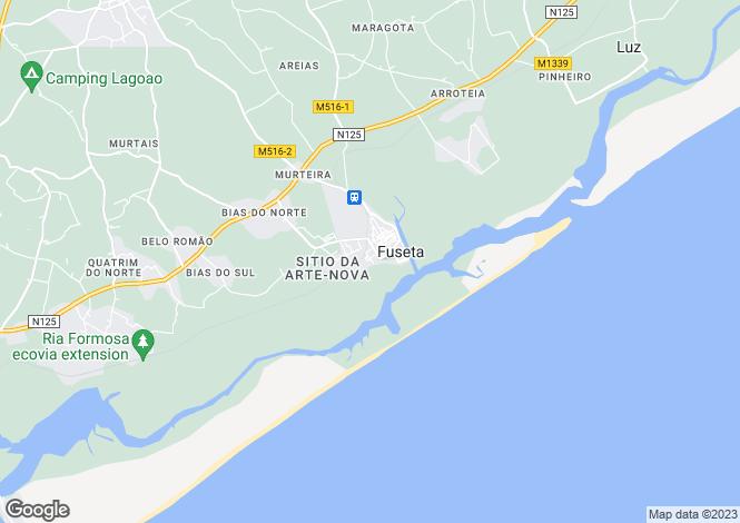 Map for Fuzeta, Algarve