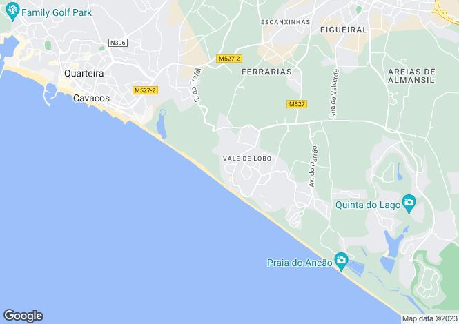 Map for Vale do Lobo, Algarve, Portugal