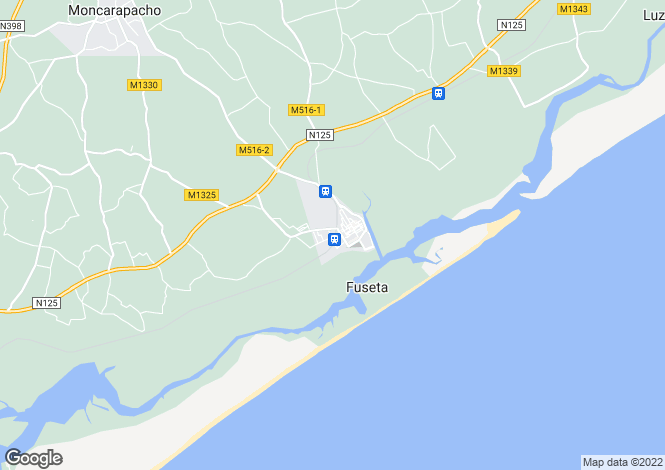 Map for Portugal,Algarve,Moncarapacho