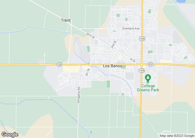 Map for California, Merced County, Los Banos