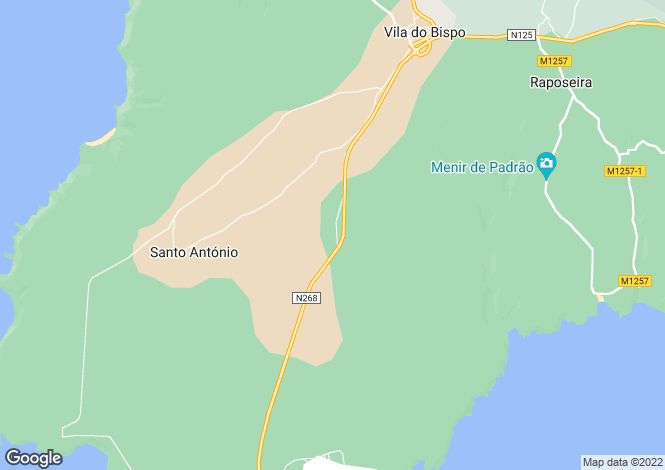Map for Sagres, Algarve, 8650, Portugal