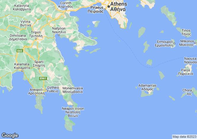 Map for Attica, Acharnes