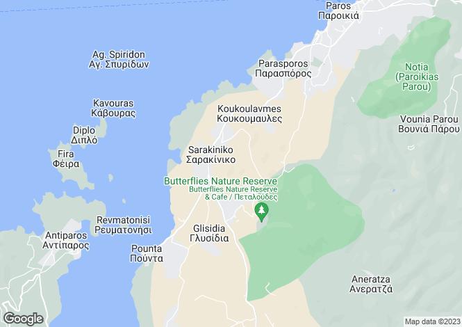 Map for Pounta, Paros, Cyclades islands