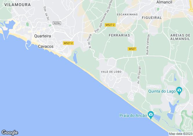 Map for Algarve, Vale do Lobo