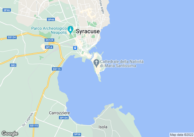 Map for Syracuse, Syracuse, Sicily