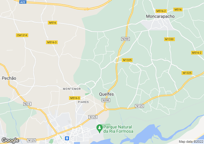 Map for Quelfes, Olhão, Faro