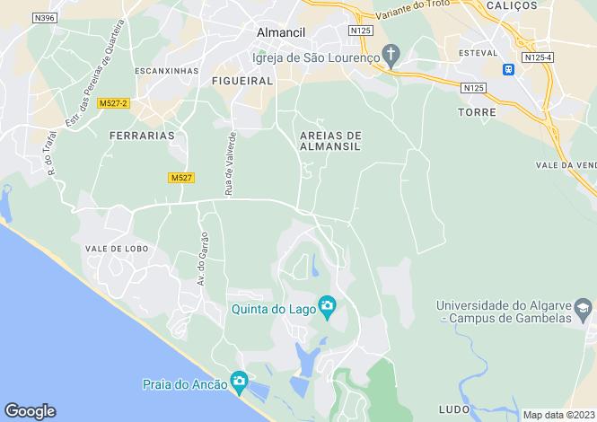 Map for Almancil, Loulé, Faro