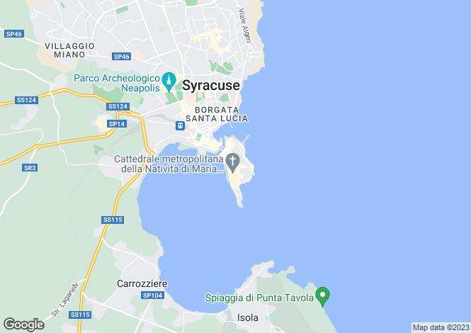 Map for Ortigia, Sicily