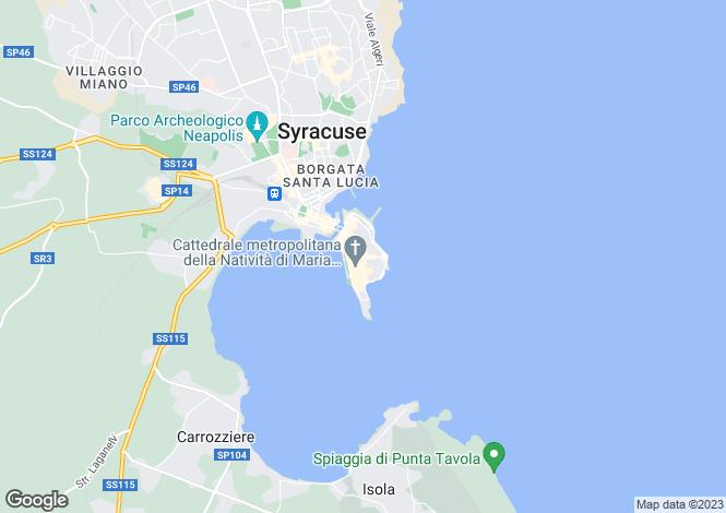 Map for Syracuse, Syracuse, Sicily