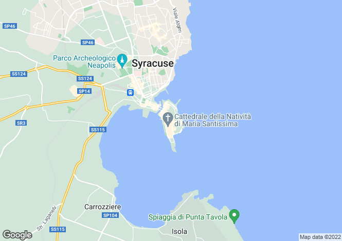 Map for Sicily, Syracuse, Syracuse