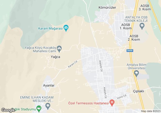 Map for Dösemealti, Antalya, Antalya