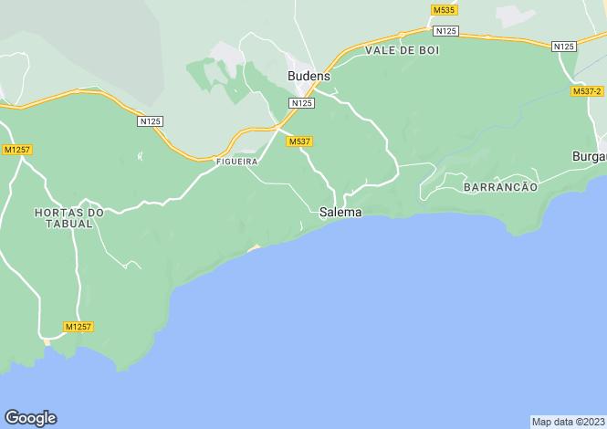 Map for Algarve, Salema