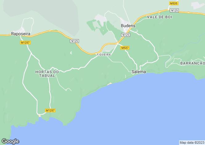 Map for Salema, Lagos, Algarve, Portugal