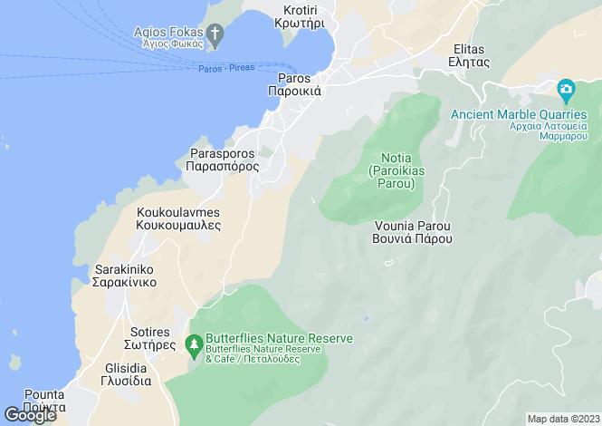 Map for Ampelas, Paros, Cyclades islands